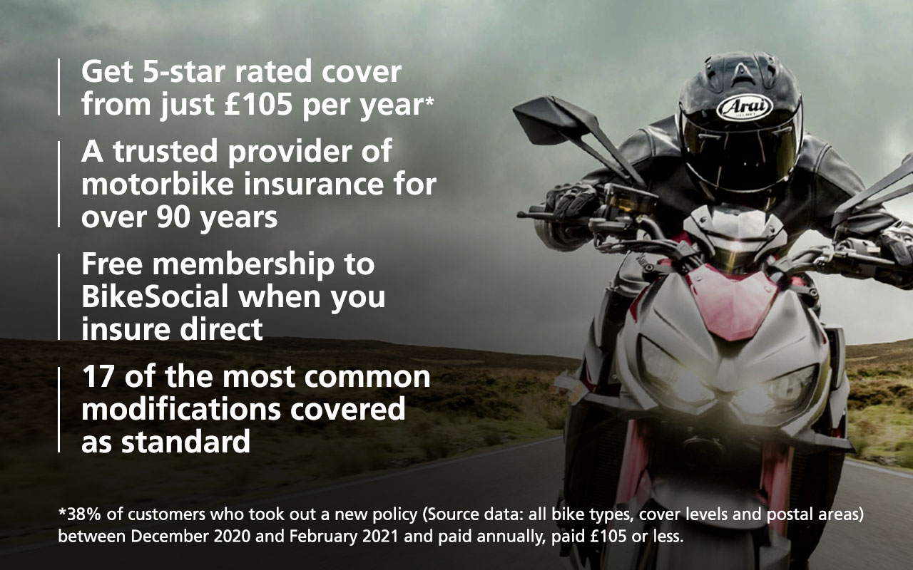 5-star rated cover from just £105 per year*