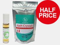 Half price bath crystals